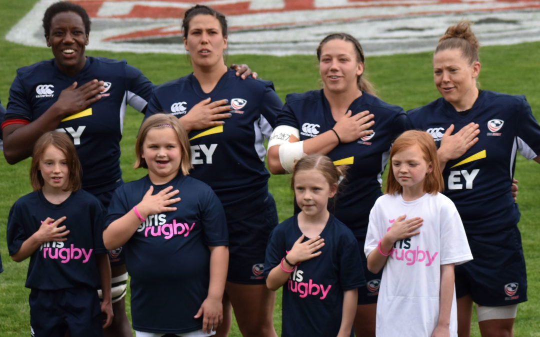 Girls Rugby Shines at USA Eagles Match Against Barbarians